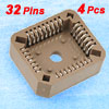 4 Pcs PLCC32 PLCC DIP IC Socket Standard Thru-hole