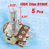 5 x 100K ohm Linear Dual Rotary Shaft Potentiometers