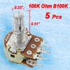 5 x 100K ohm Linear Dual Rotary Shaft Potentiometers
