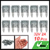 10 Pcs Vehicle Car Mini Size Blade Type Fuse Gray 32V 2A