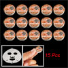 Women Orange Cover Compressed Facial Mask Sheet 15 Pcs