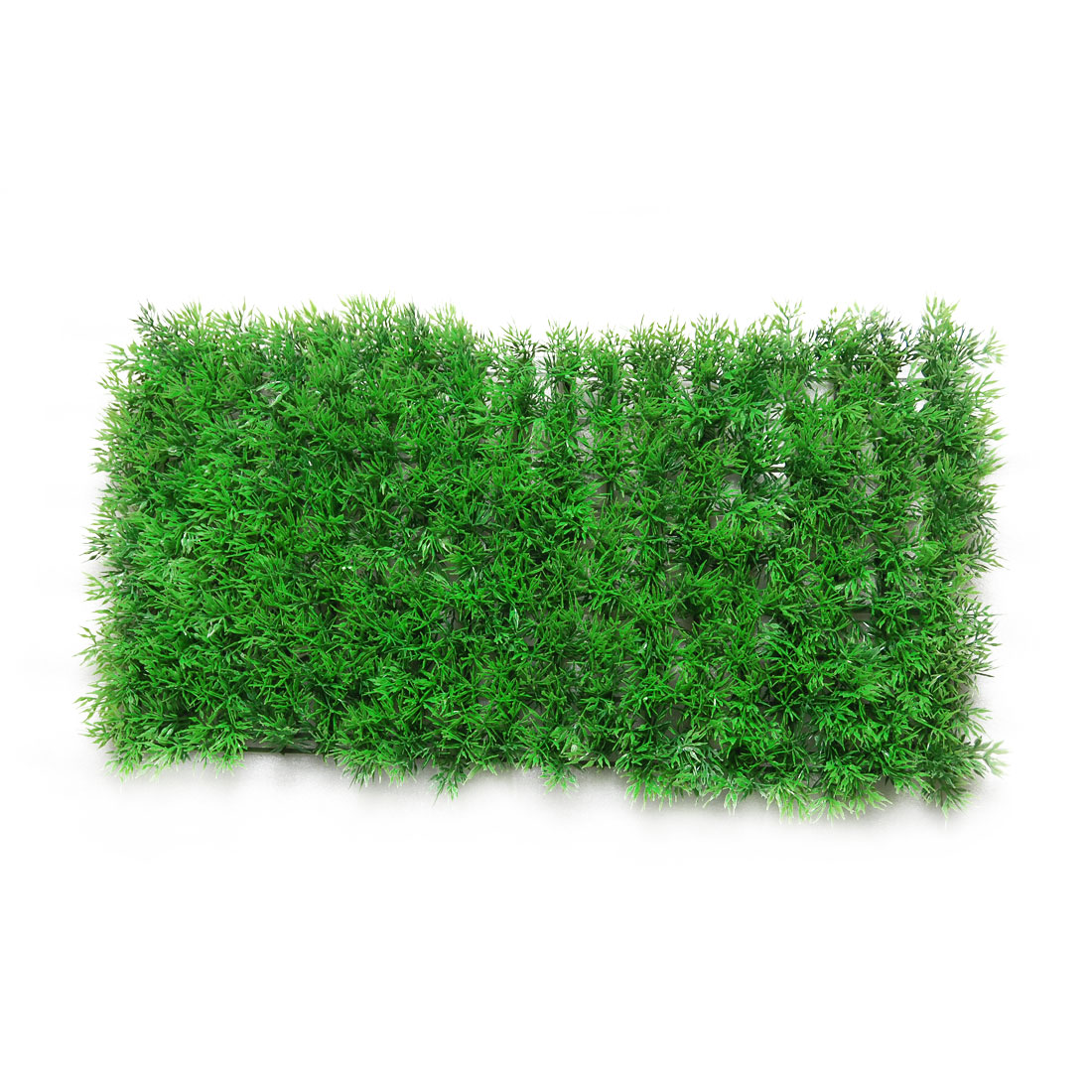 "Fish Aquarium 9.5"" x 18.5"" Plastic Green Grass Lawn Decor"