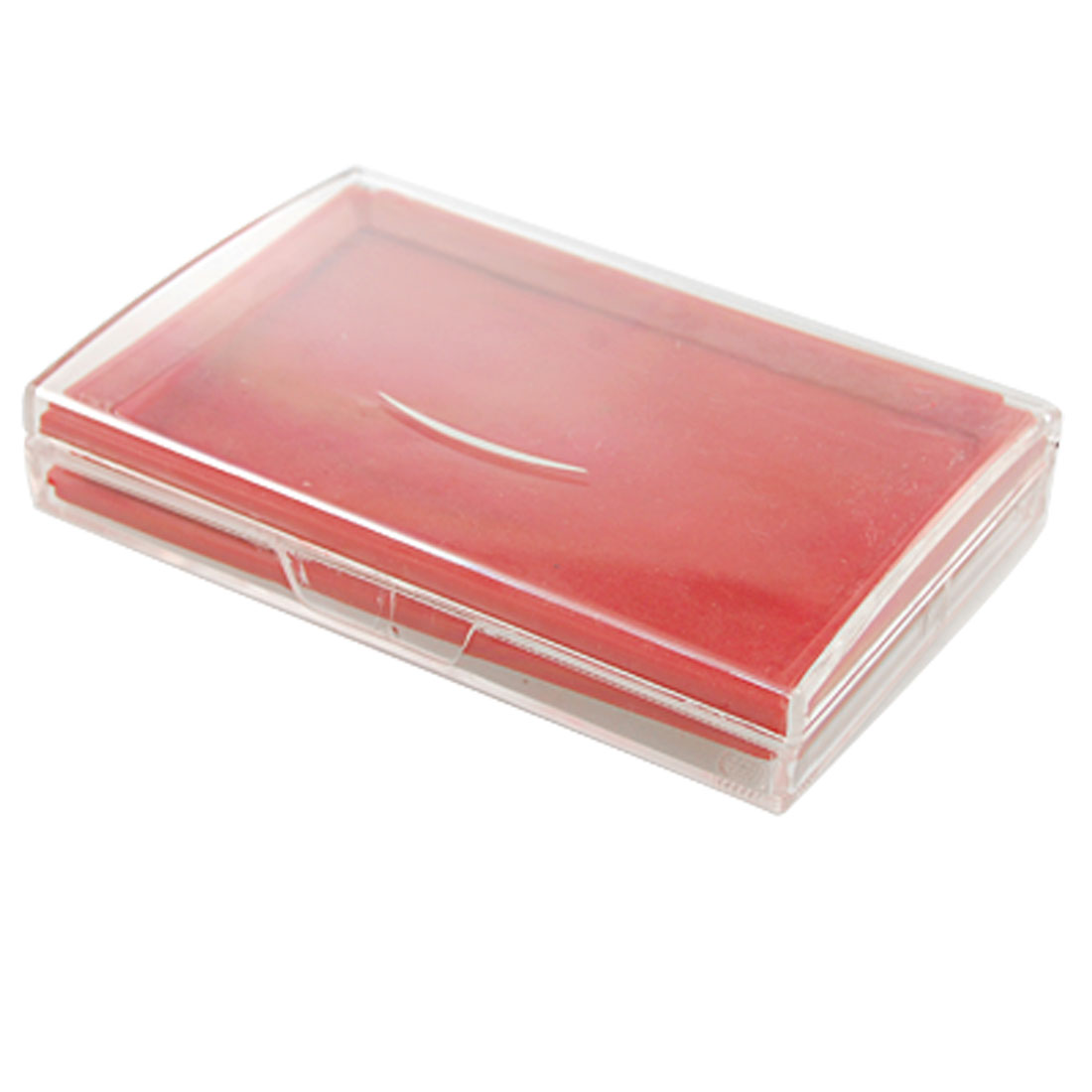 Clear Cover Rectangle Red Quick Dry Ink Stamp Pad