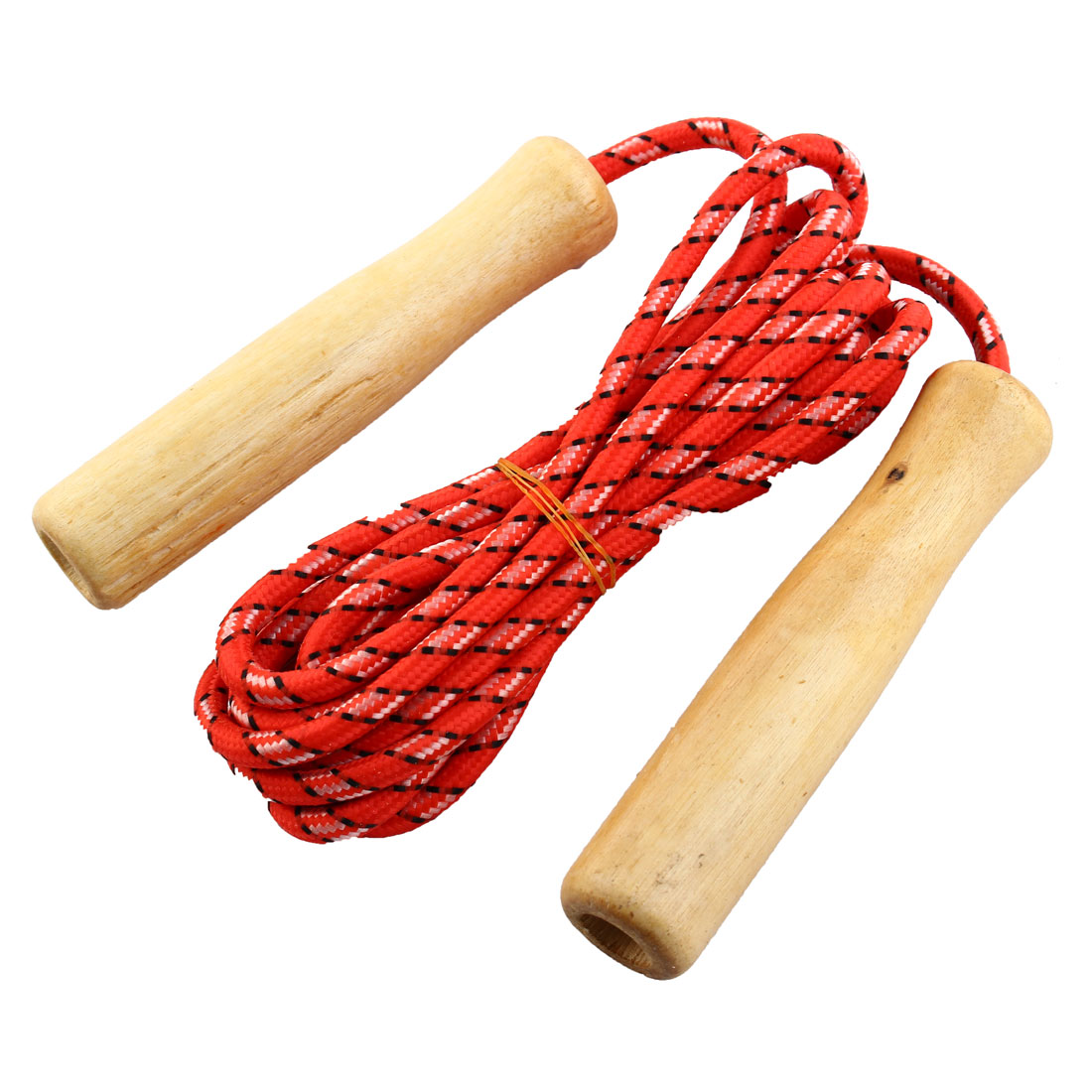2M Length Wooden Handle Red Fitness Exercise Jumping Skipping Rope