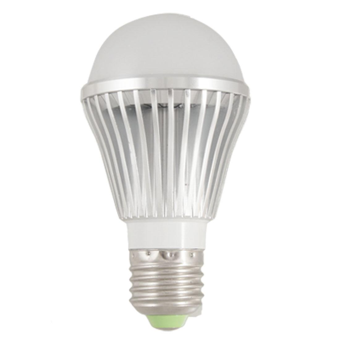 AC 100-240V E27 Base 5W White LED Globe Bulb Lamp 6000-6500K