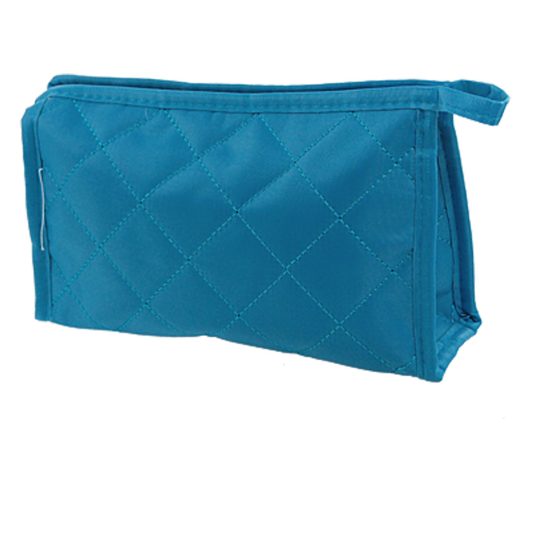 Cosmetic Makeup Small Zipper Case Bag Rectangle Pouch Blue for Women