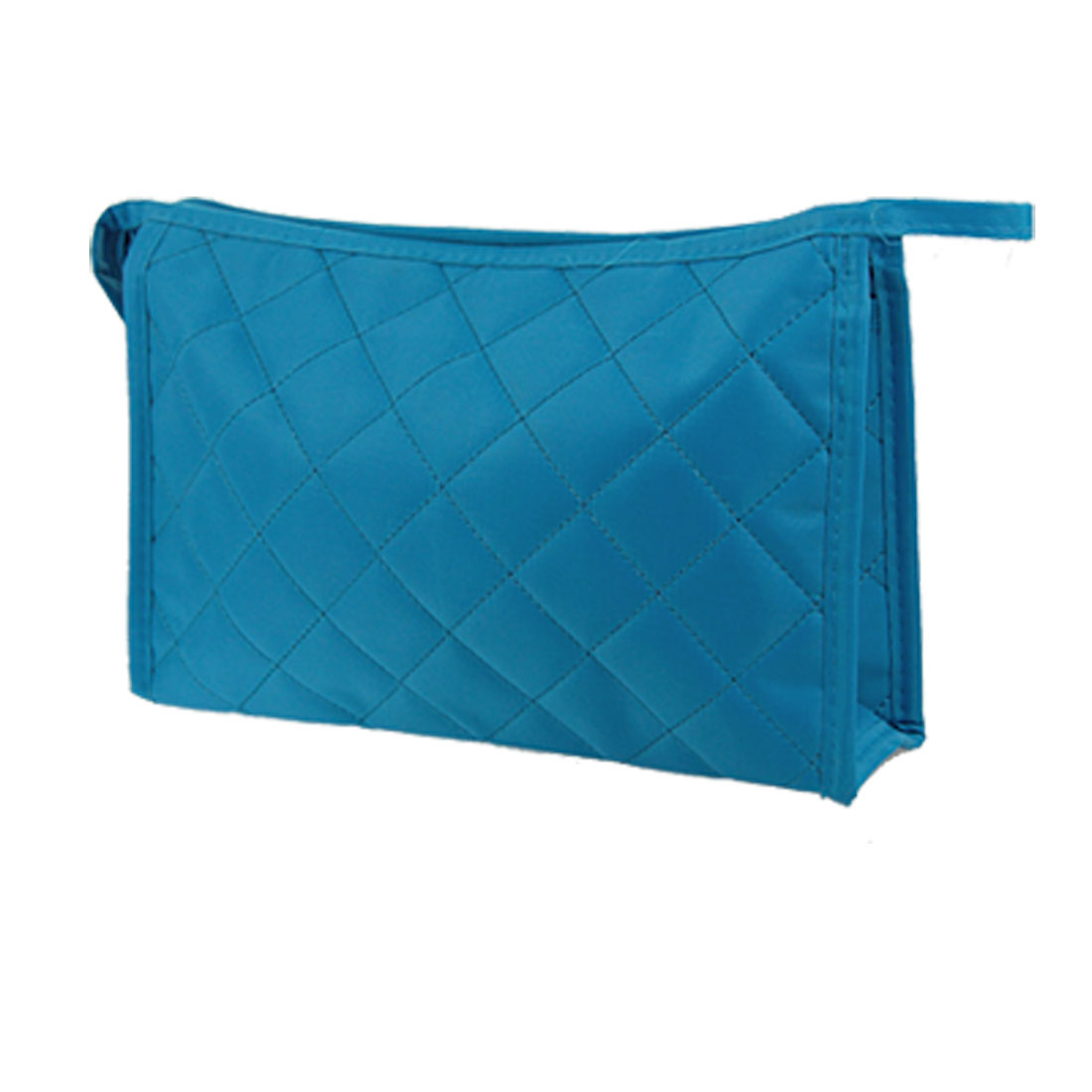 Cosmetic Rectangle Zipper Case Large Makeup Pouch Bag Blue for Woman