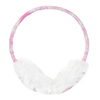 Lady Pink Flower Faux Fur Fluffy Earmuffs Ear Cover Warmer
