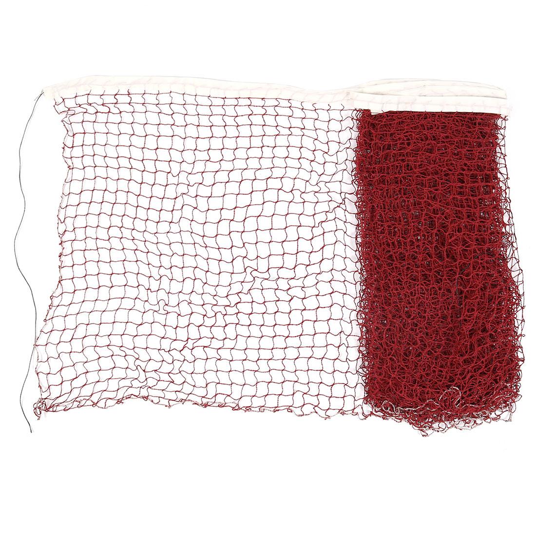 6 x 0.7M Nylon White Trim Burgundy Braided Mesh Badminton Training Net