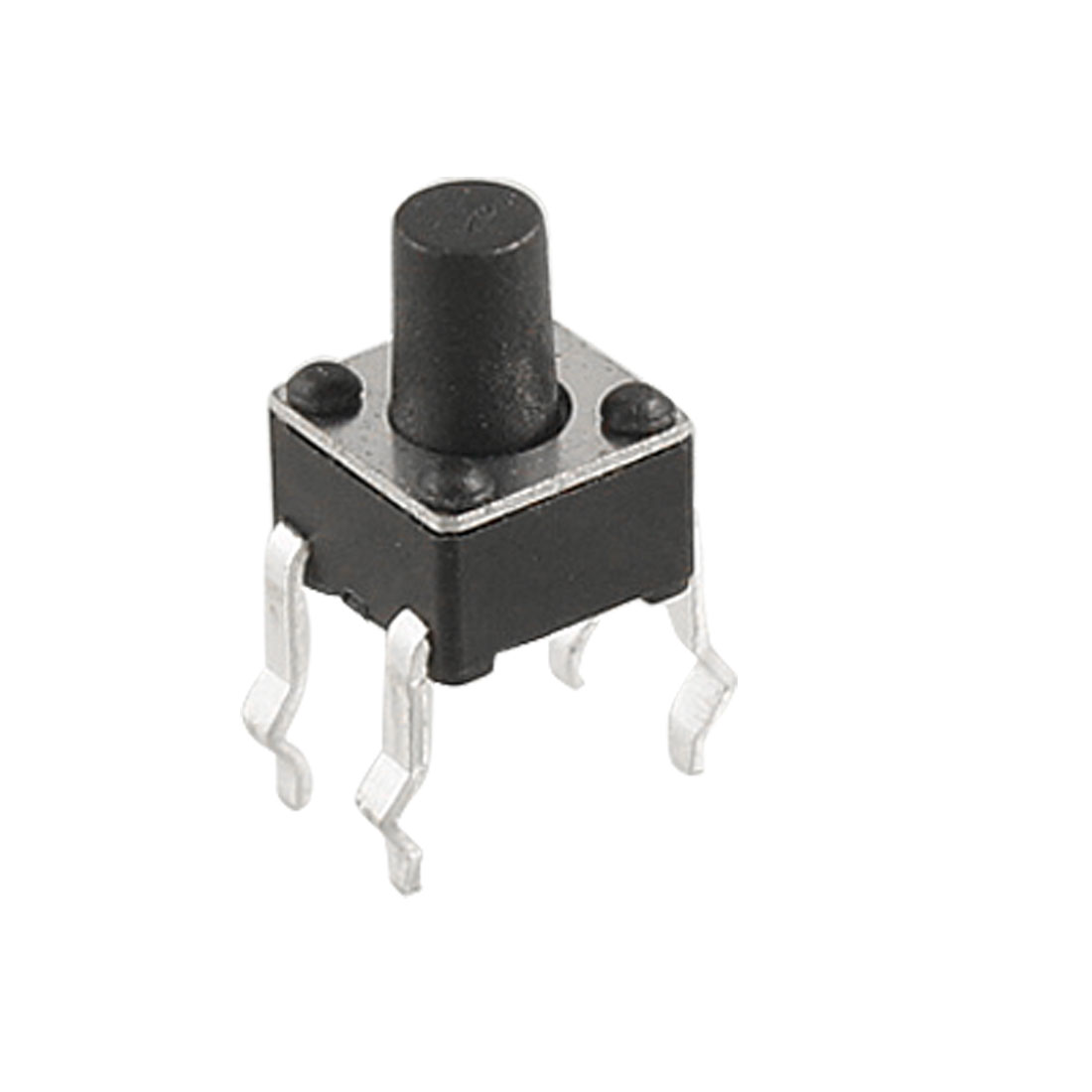 10 Pcs Black Round Push Button Momentary Tact Switch 4 x 4 x 6mm