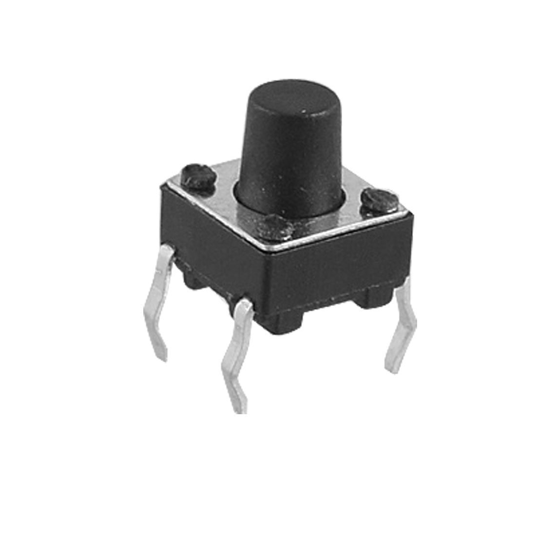 Black Round Push Button Momentary Tactile Tact Switch 6 x 6 x 7mm 10 Pcs
