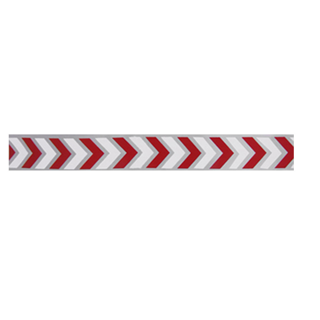 5 Pairs Car Truck Trailer Reflective Arrow Safety Sticker White Red Silver Tone