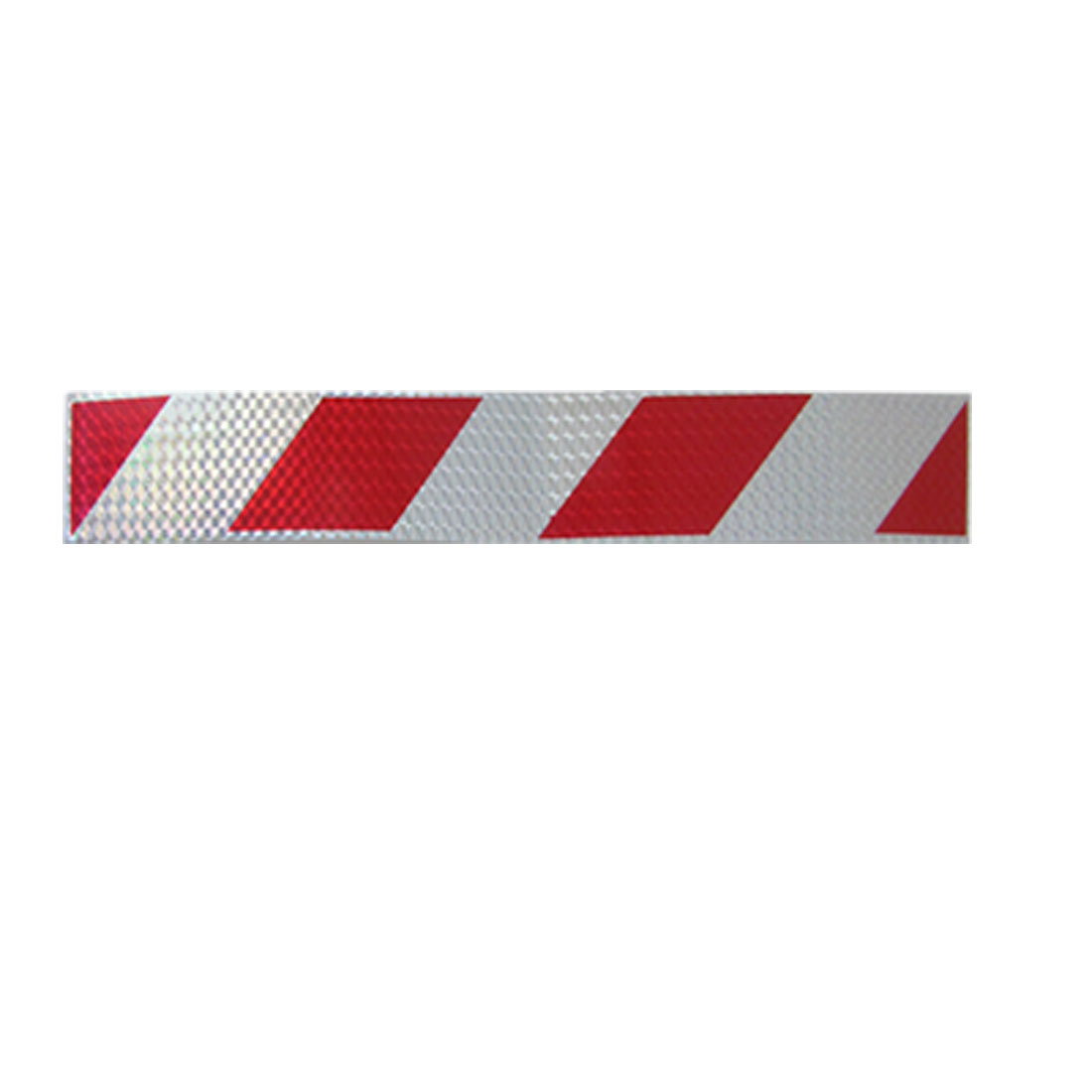 Car Reflective Red Silver Tone Strips Stickers Decals 10 Pcs