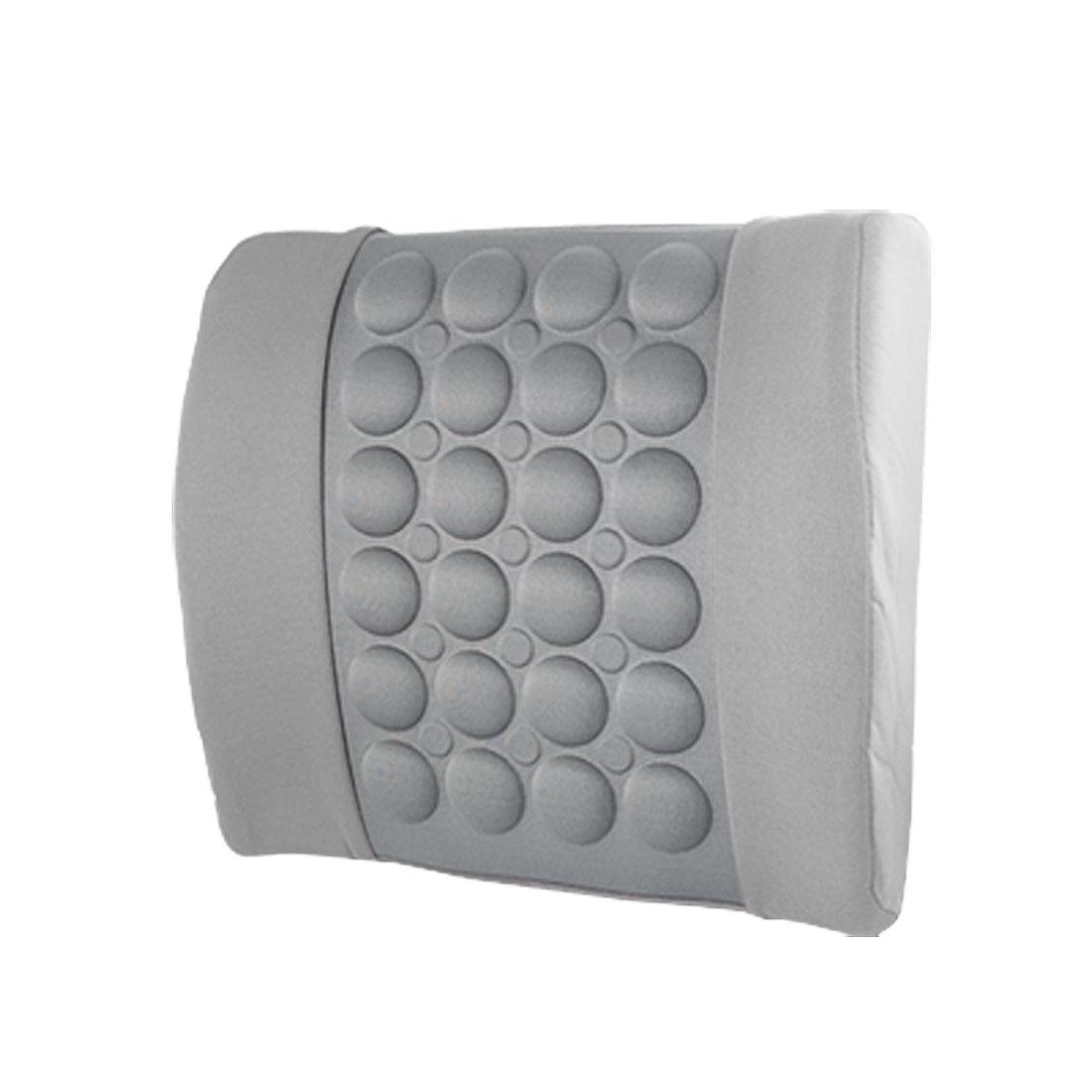 Auto Car Elastic Strap Gray Bubble Waist Cushion w Car Charger