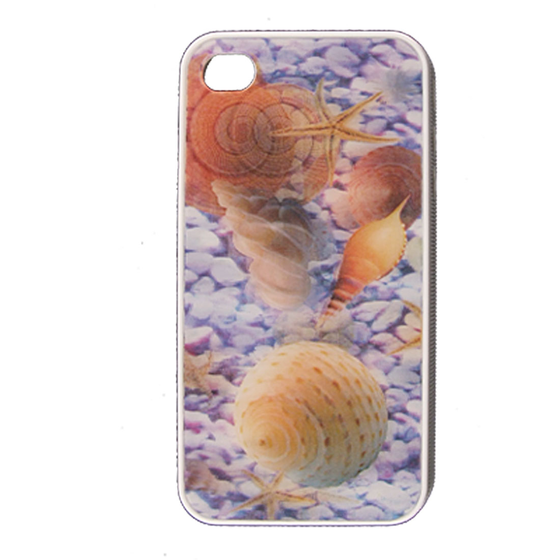 3D Shell Pattern Plastic Back Case Cover for iPhone 4 4G