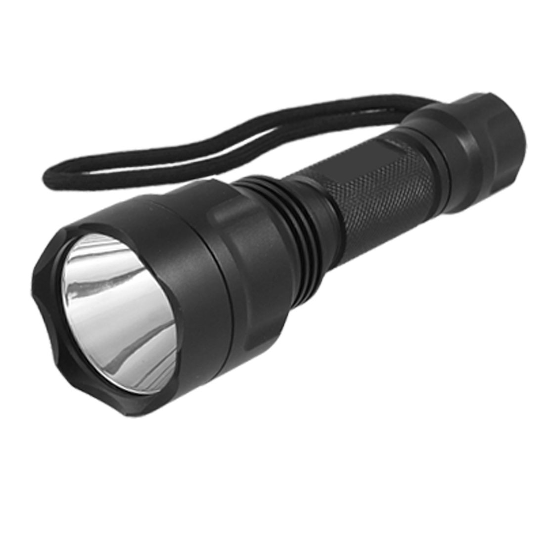 US Plug AC100 - 240V Ultra Bright 230LM 2W LED 5 Modes Flashlight Torch w 18650 Charger Black