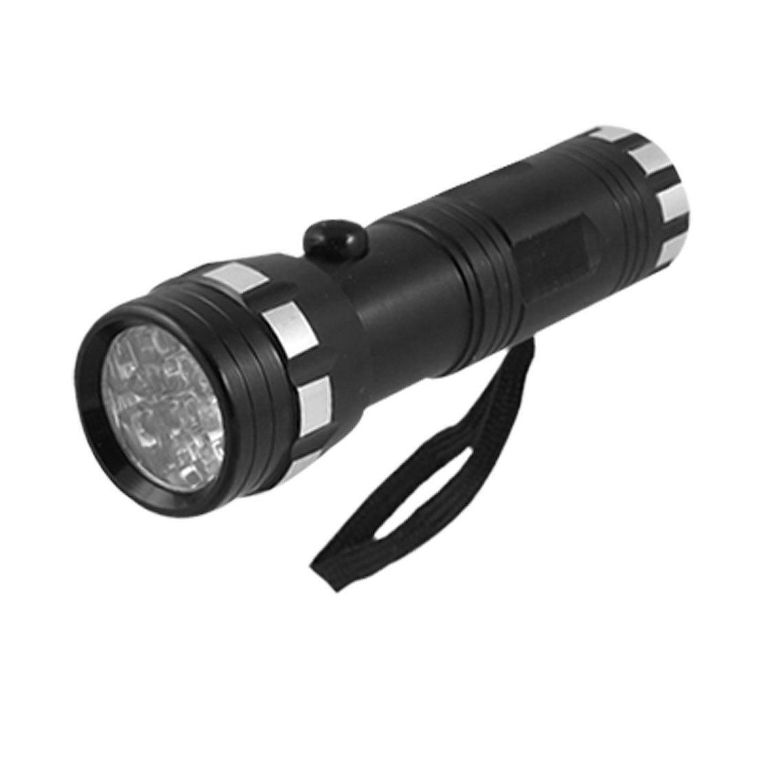 "4.8"" Length Black Aluminum Shell White LED Flashlight"