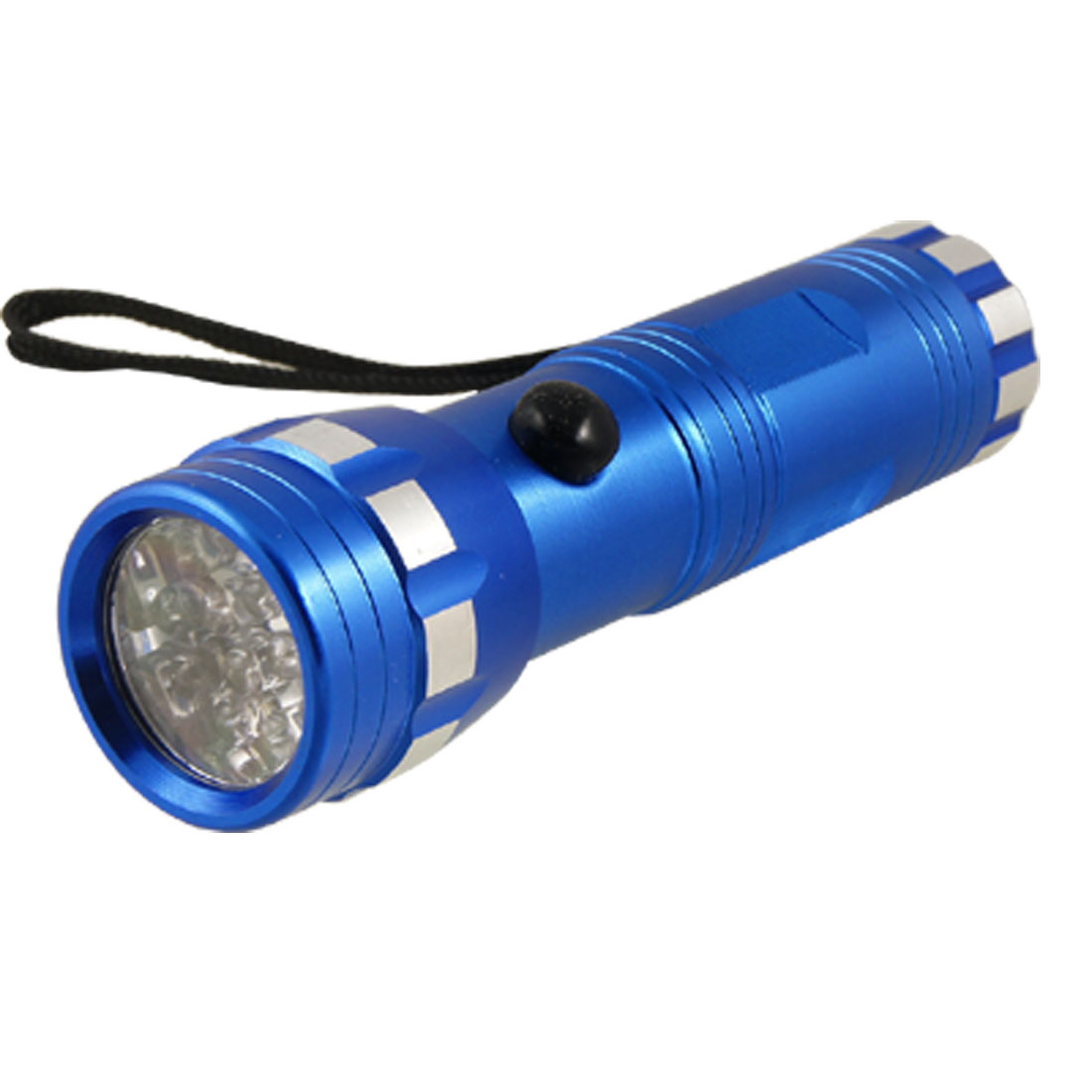 Royal Blue Aluminum Shell 14 LEDs Flashlight Torch for Travel Camping Fishing
