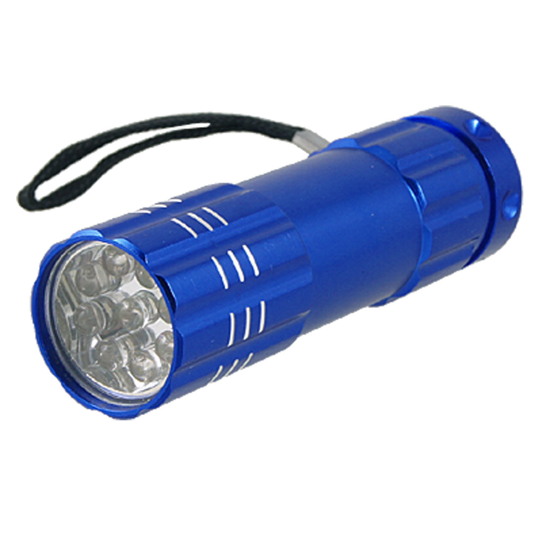 Camping Royal Blue Shell 9 LEDs White Light Flashlight
