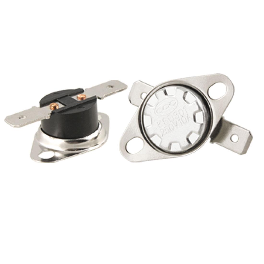 KSD301 120 Celsius Normal Close Temperature Control Switch Thermostat 5 Pcs