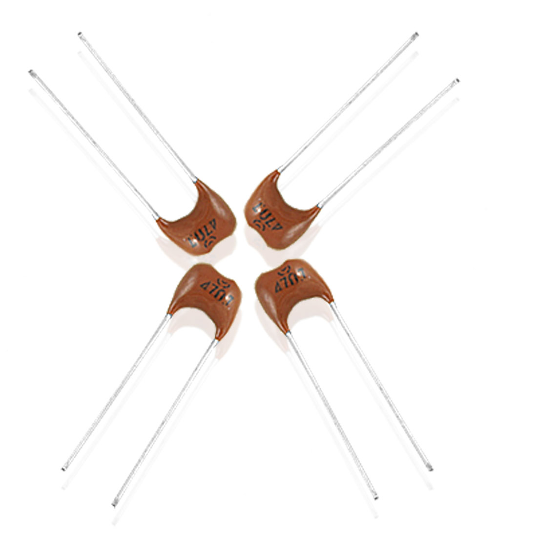 10 x 300V 470pF 5% Radial Lead Silver Mica Capacitors
