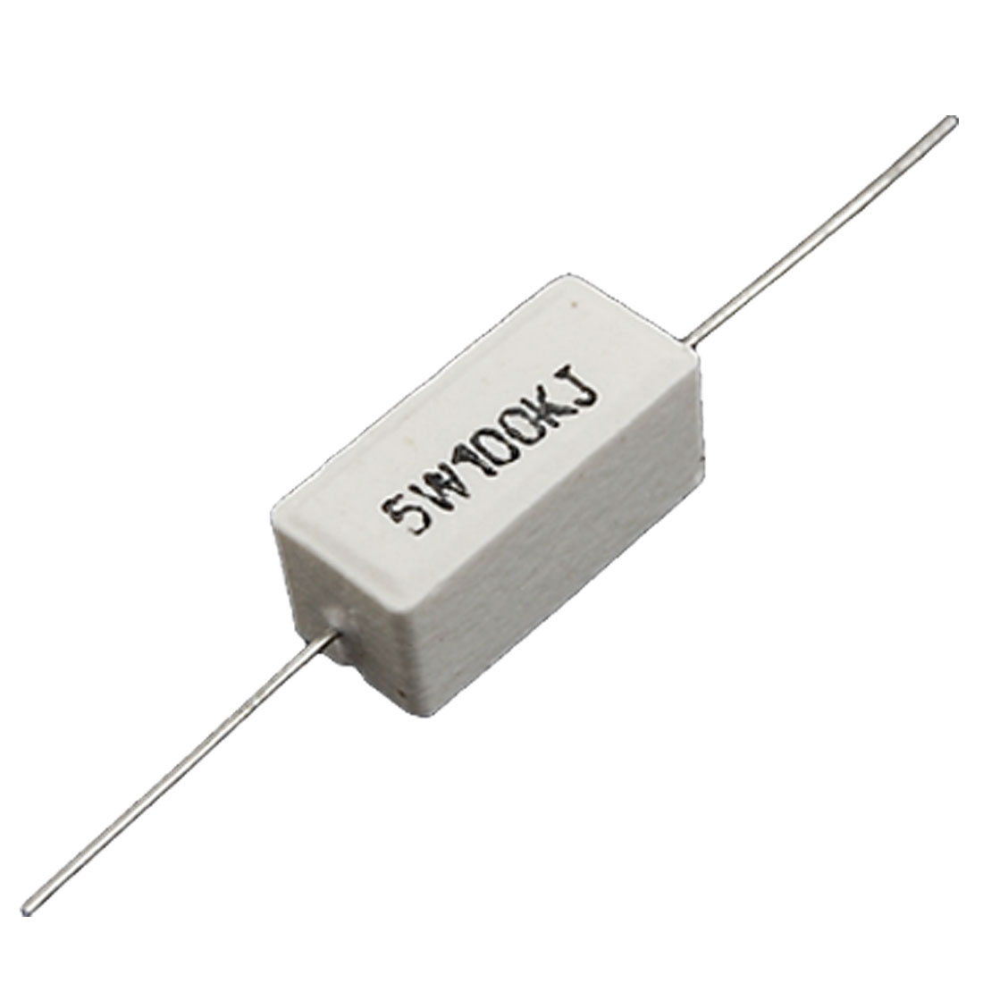 10 Pcs Axial Ceramic Cement Power Resistors 100K Ohm 5W Watt 5%