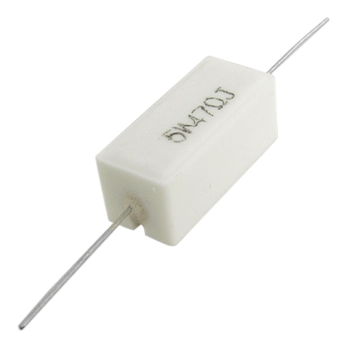 10 Pcs 5W 47 Ohm 5% Axial Lead Ceramic Cement Resistors