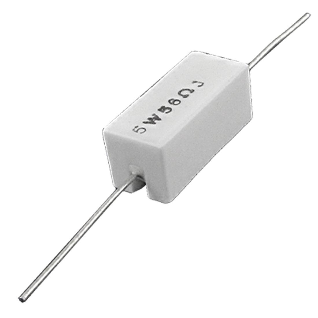 56 R Ohm 5% 5W Watt Ceramic Cement Power Resistor x10pcs