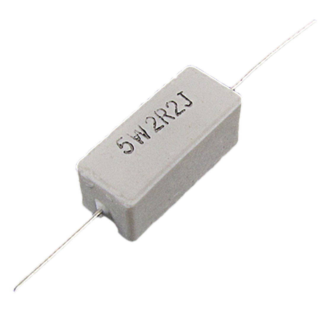 10 Pcs Wire Wound Fixed Cement Resistors 5W 2.2 2R2 Ohm 5%