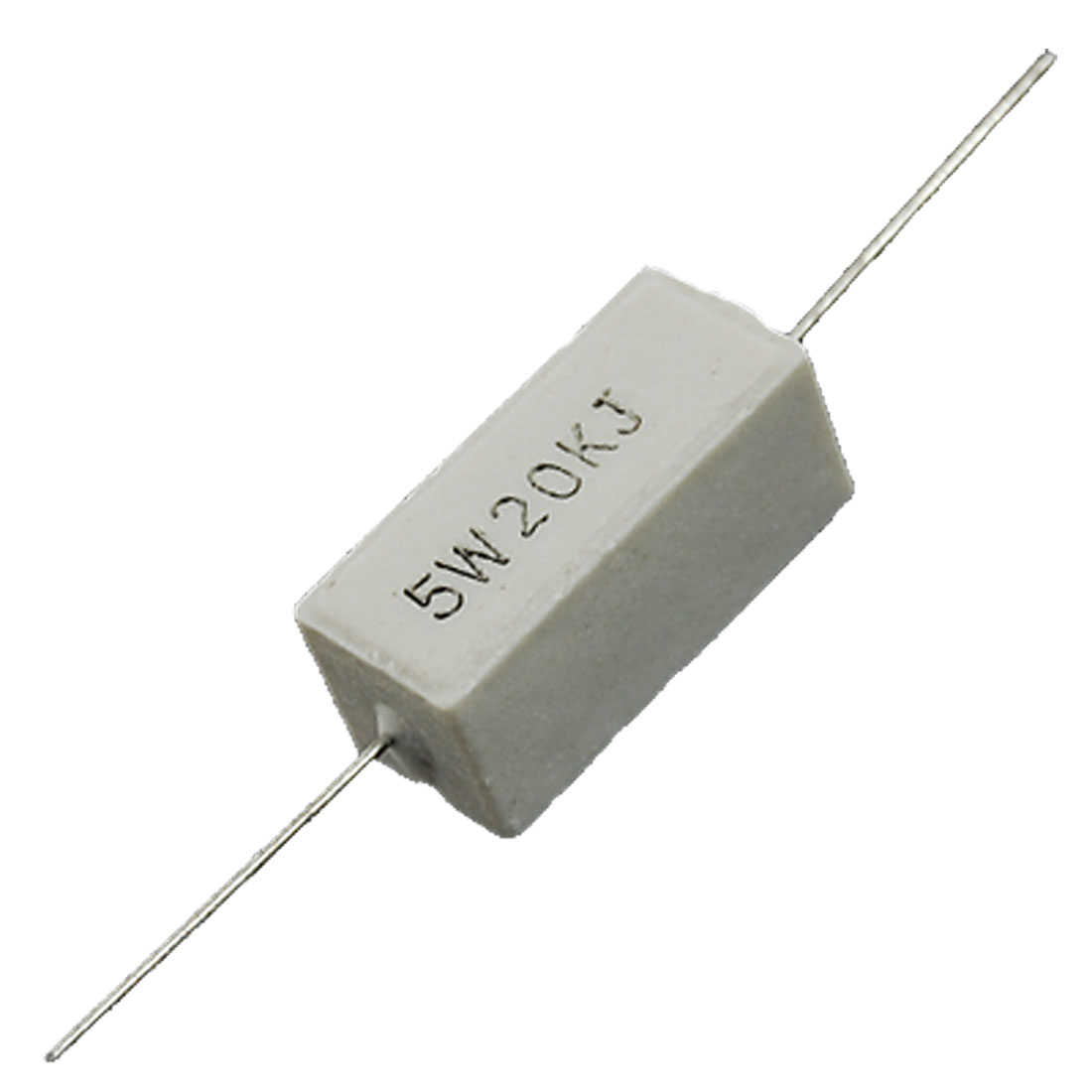 10 Pcs 20K Ohm 5% 5W Watt Fixed Cement Power Resistors