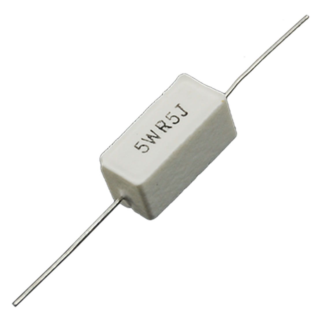 10 Pcs Axial Lead Wire Wound Cement Resistors 0.5 Ohm 5W