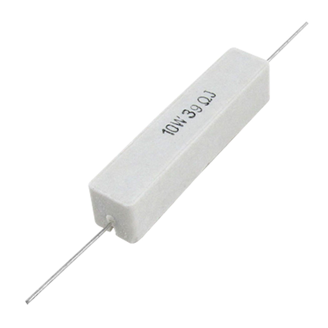 10 Pcs 10W Watt 39 Ohm 5% Fixed Ceramic Cement Resistors
