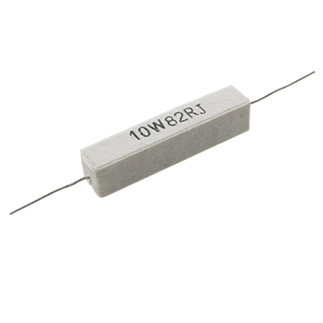 10pcs 10 Watt 82R Ceramic Cement Power Resistor 10W 82 ohm