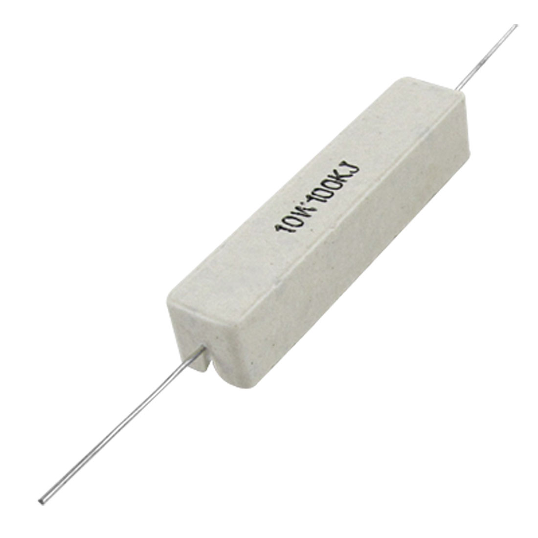10 Pcs 100K Ohm 5% Fixed Cement Power Resistors 10W Watt