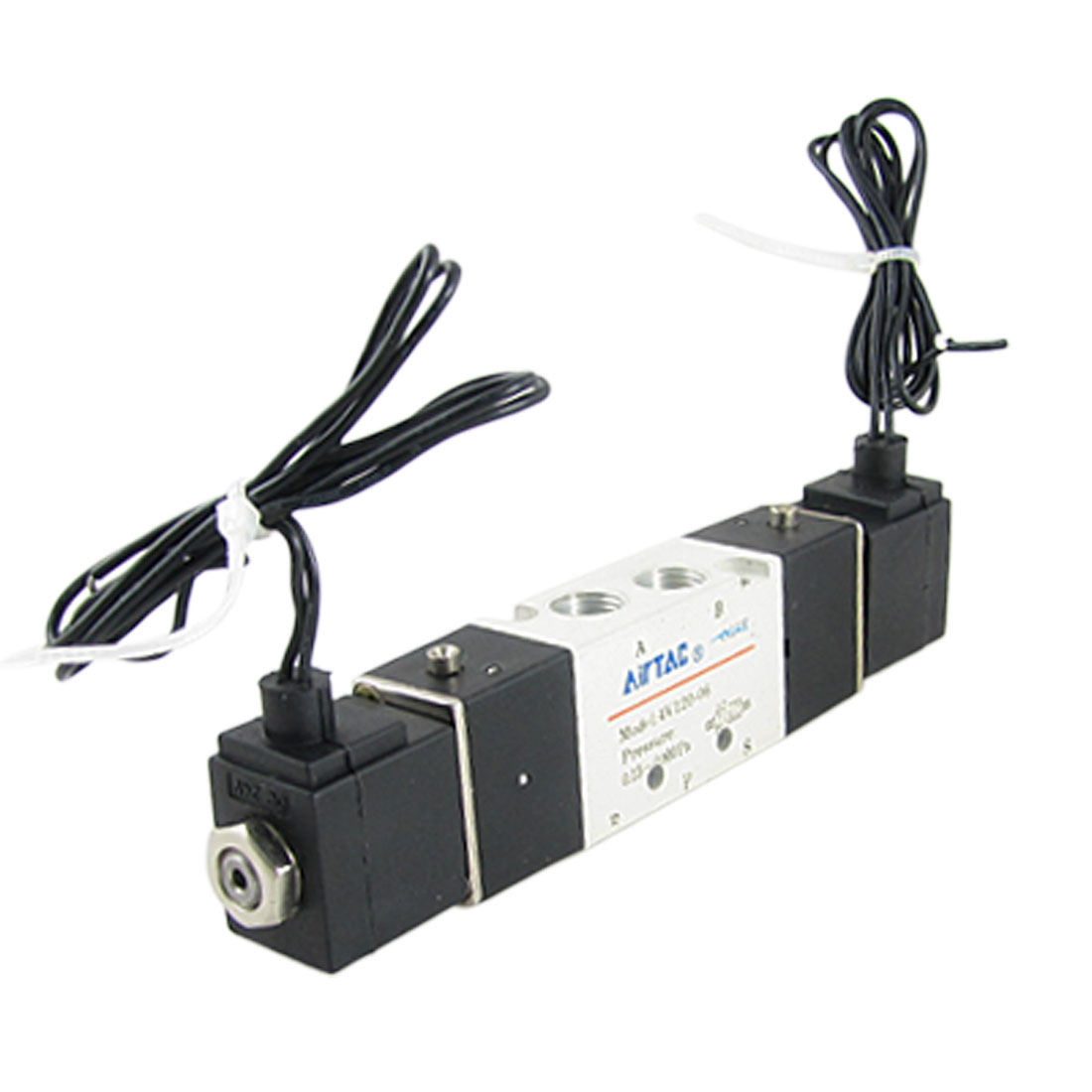 DC 24V 4V120-06 2 Position 5 Way Pneumatic Air Solenoid Valve
