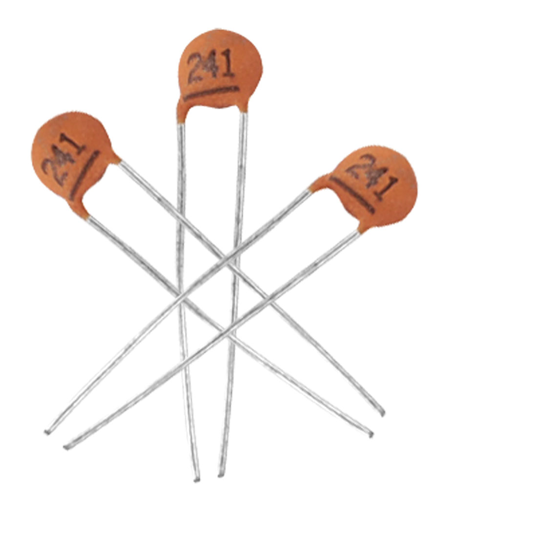 100 x 240pF 50V Low Voltage Through Hole Ceramic Disc Capacitors