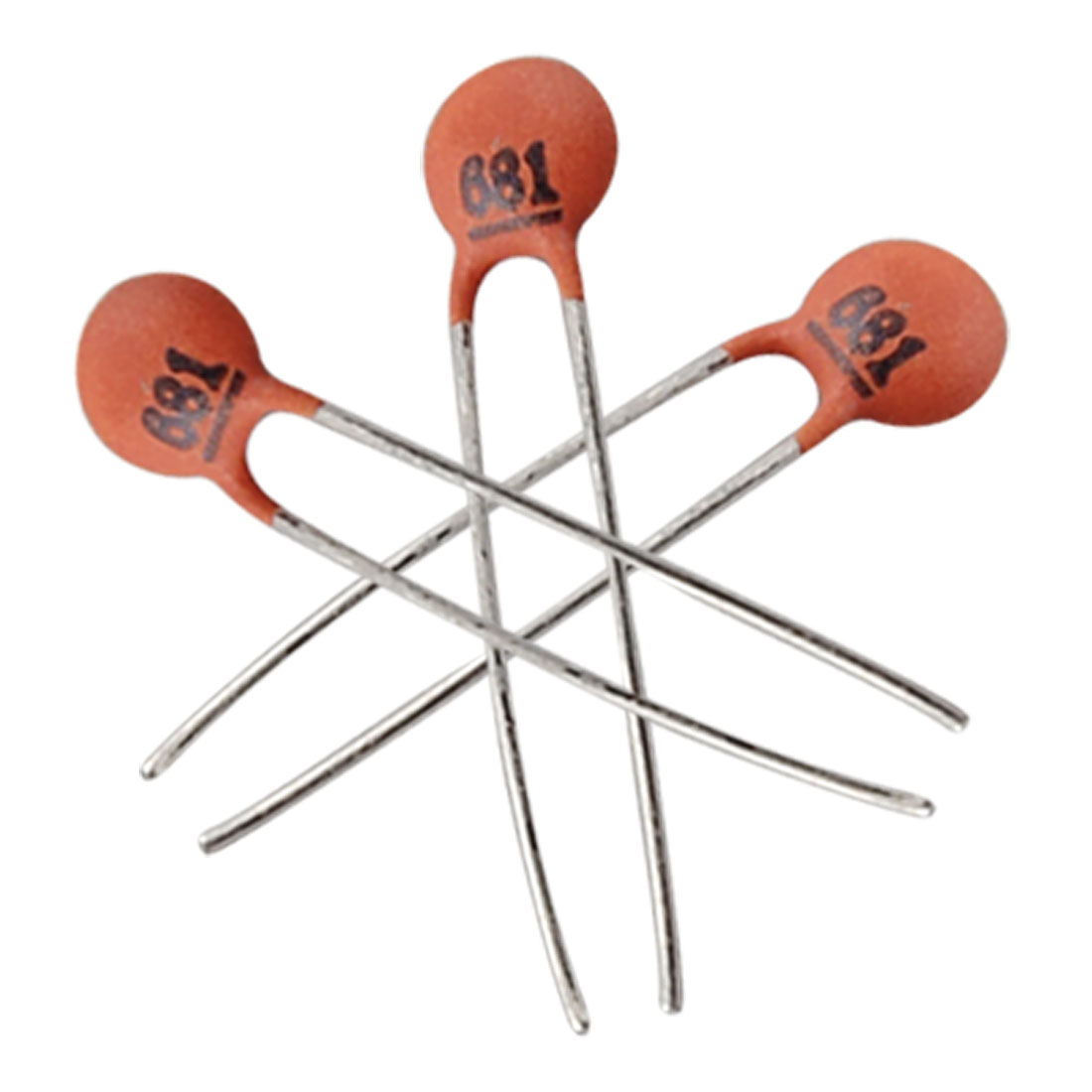 50 x 680pF 2.5mm Pitch Through Hole Ceramic Capacitors