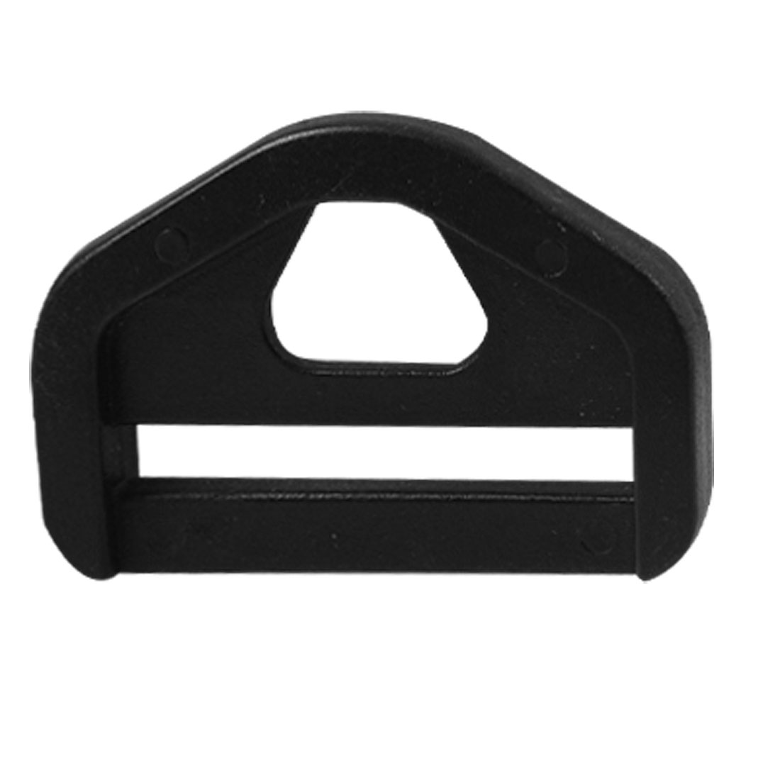 """Strapping 5 Pcs 1 1/4"""" Black Hard Plastic Glide D Ring Buckle"""