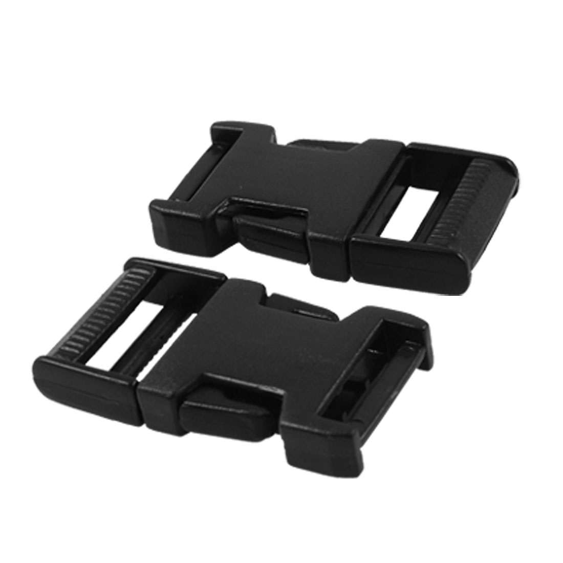 "Luggage 3/4"" Black Plastic Side Quick Release Buckle 2 Pcs"