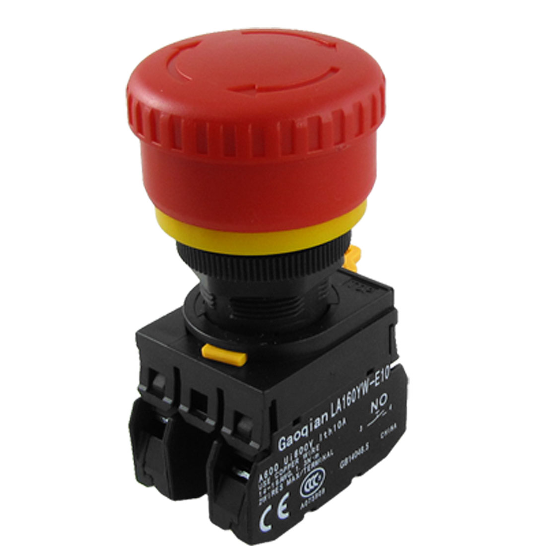 AC 600V 10A Red Sign Mushroom Emergency Stop Push Button Switch YW1B-V4E11R