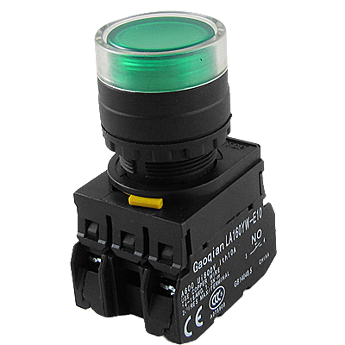 1NO 1NC Contact Momentary Action Electric Green LED Indicator Push Button Switch