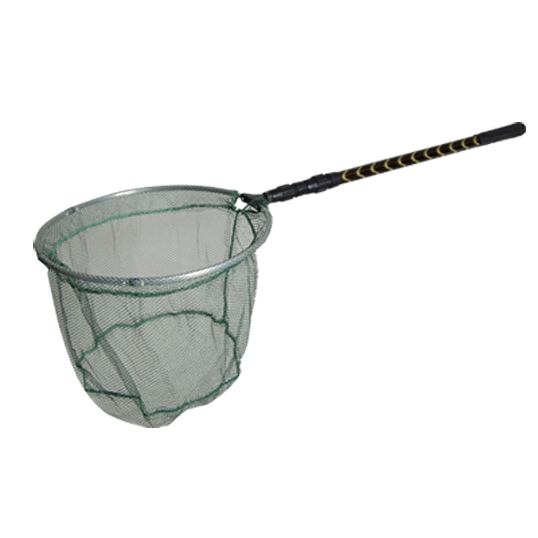 Rubber Coated Telescopic Handle 3 Sections Fishing Tackle Landing Net