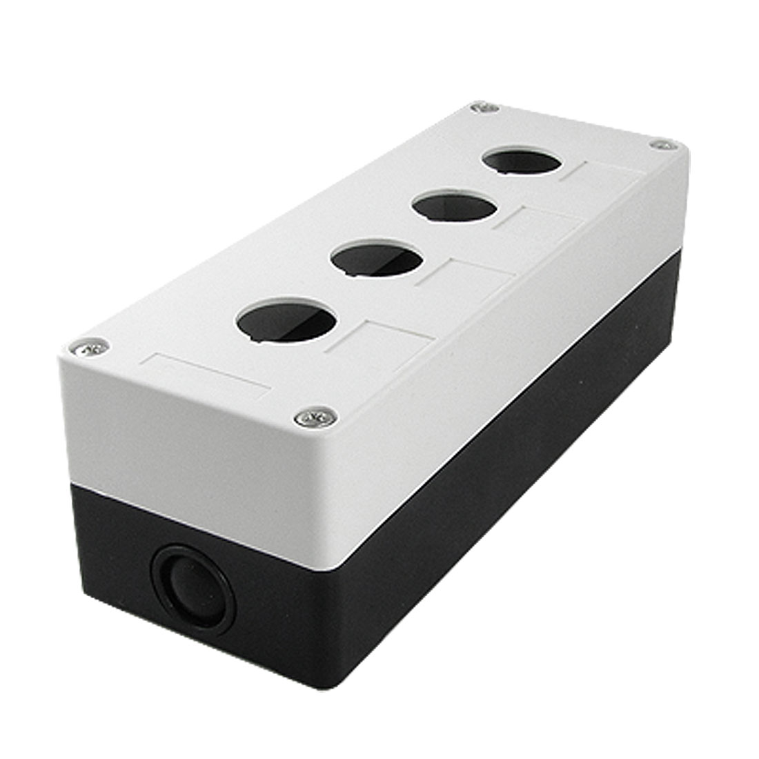 White Black Plastic 4 Holes Push Button Swith Control Box