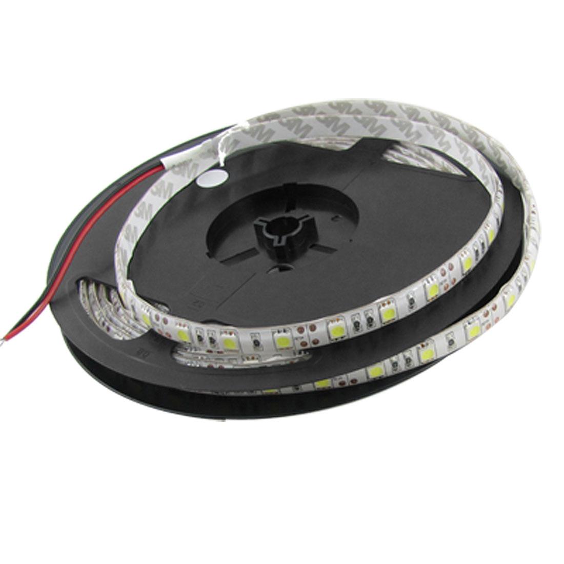 5m 500cm 5050 Cool White 300 LED SMD Flexible Strip Light Lamp Waterproof DC 12V