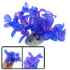 Aquarium Purple Plastic Aquascaping Plant Decor w Oval Base