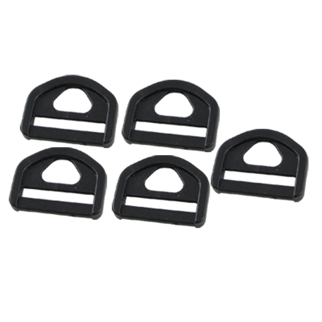 "5 Pcs 1"" Black Glide D Ring Buckle for Webbing Strapping"