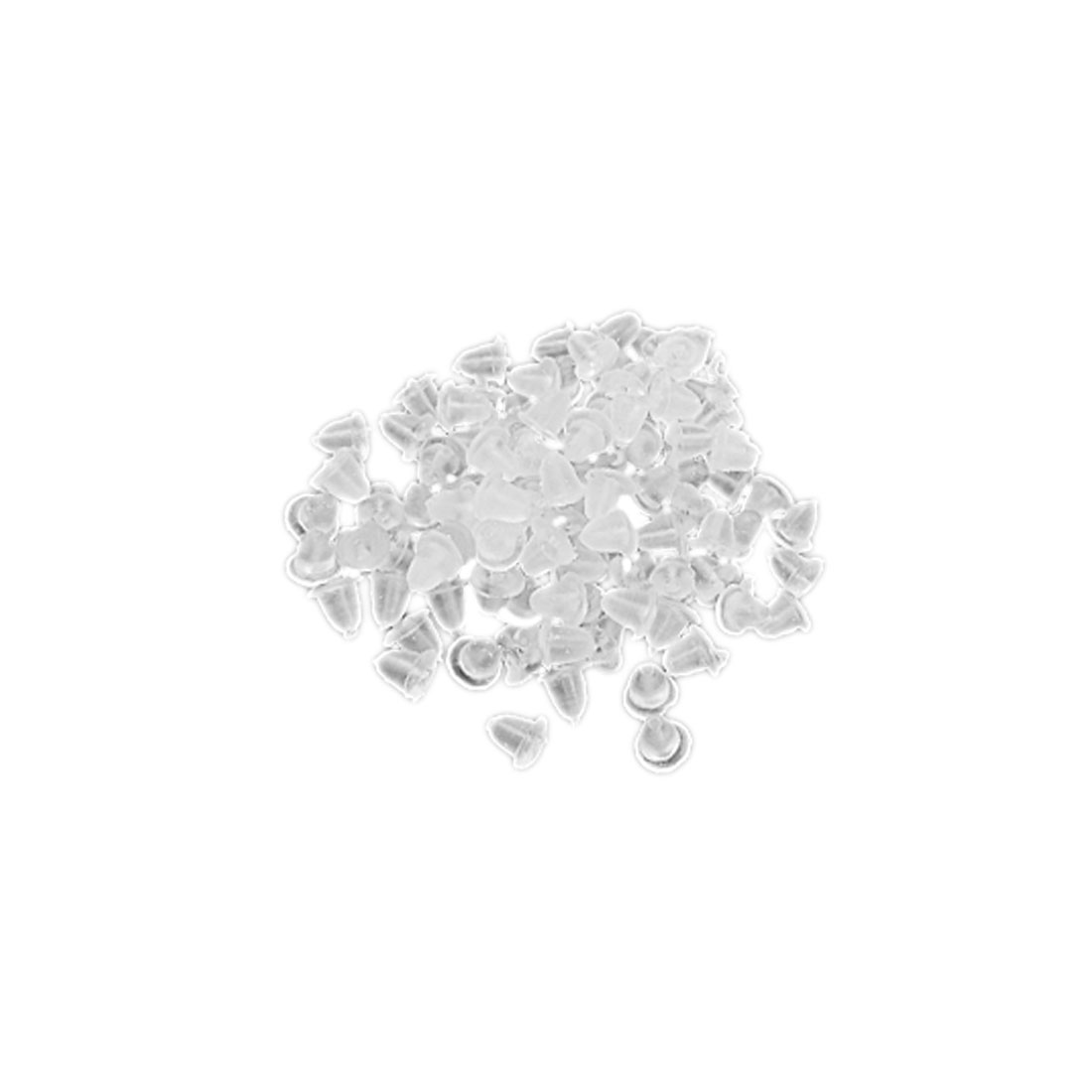 200 Pcs Replacement Clear Soft Plastic Earring Back Caps