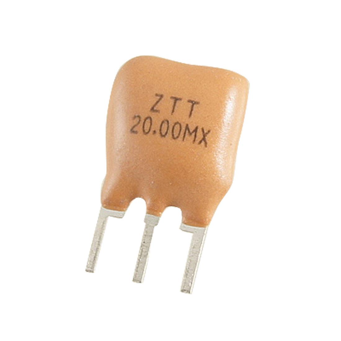 5 x Radial Lead 20.000 MHz Ceramic Resonator 3 Pins ZTT Series