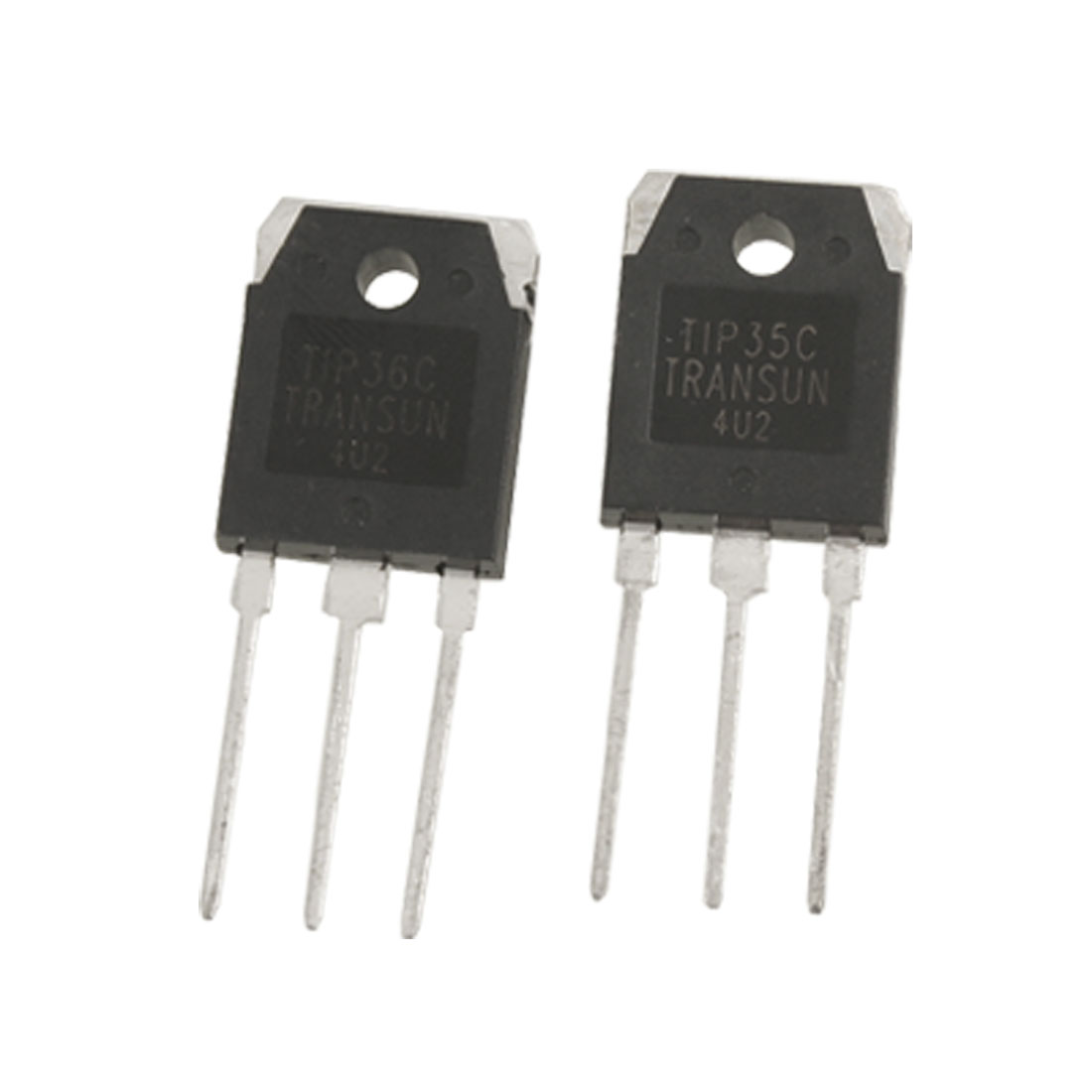 2 x TIP35C TIP36C 25A 200V 90W Silicon High Power Transistors