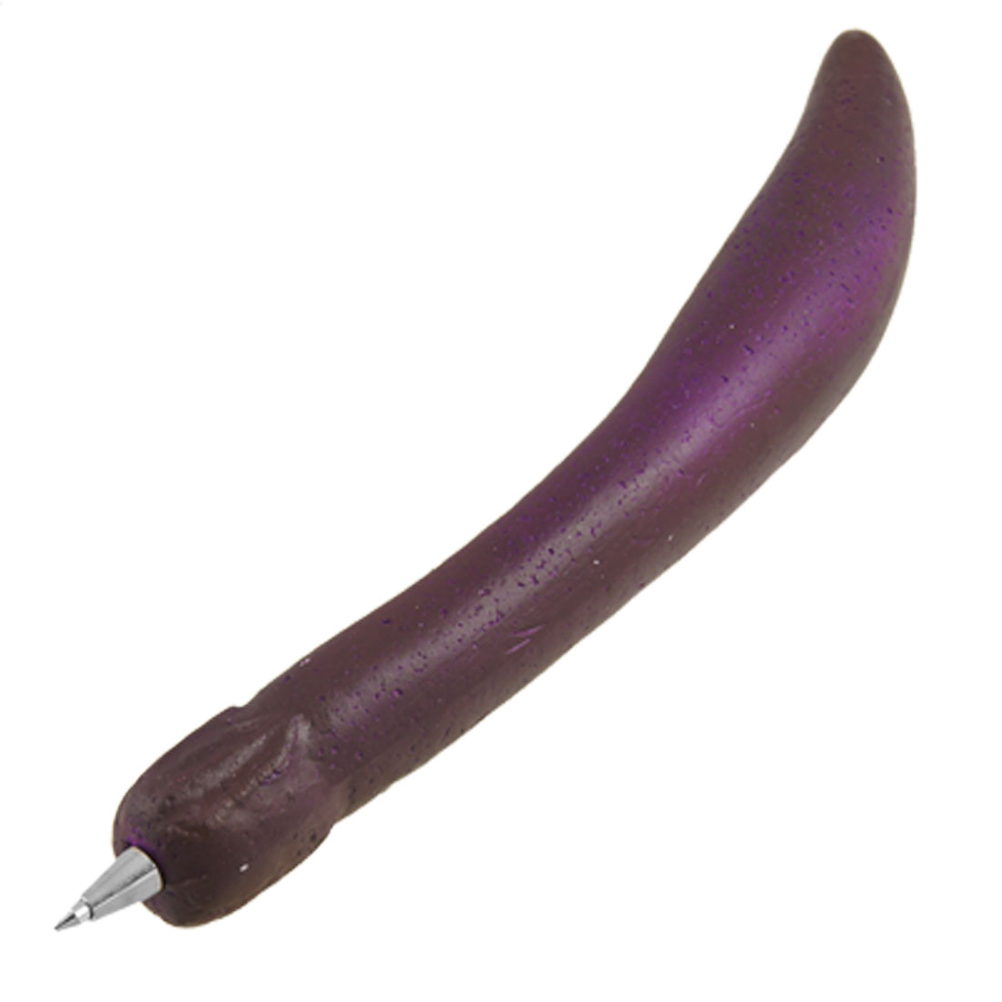 Home Office Stationery Eggplant Shape 0.5mm Tip Ball Pen